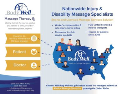 Nationwide Injury and Disability Massage Specialists